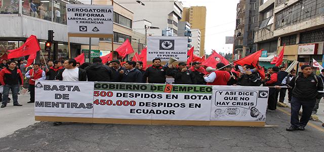 ¿Qué se esconde detrás de la reforma laboral de Correa?