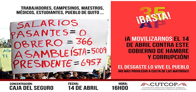 Marcha del pueblo y los trabajadores este jueves 14 de abril
