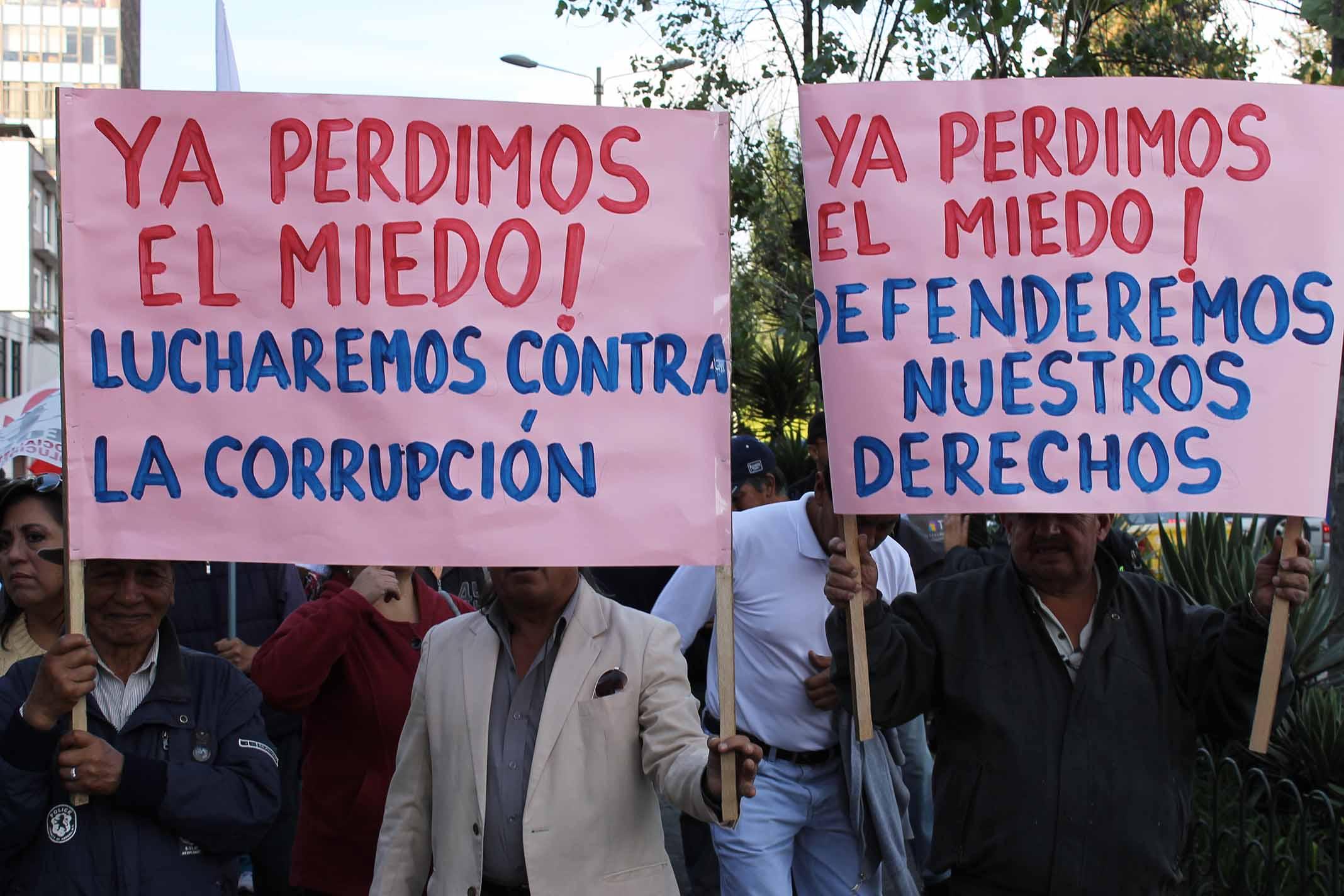 Protestas por desempleo, corrupción y alto costo de la vida