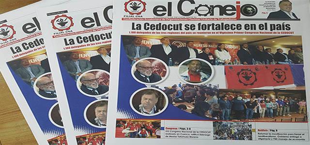 """En circulación periódico """"El Conejo"""" de la Cedocut"""