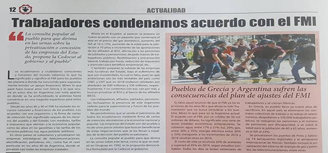 """Periódico """"El Conejo"""" de la Cedocut en circulación (Marzo 2019)"""
