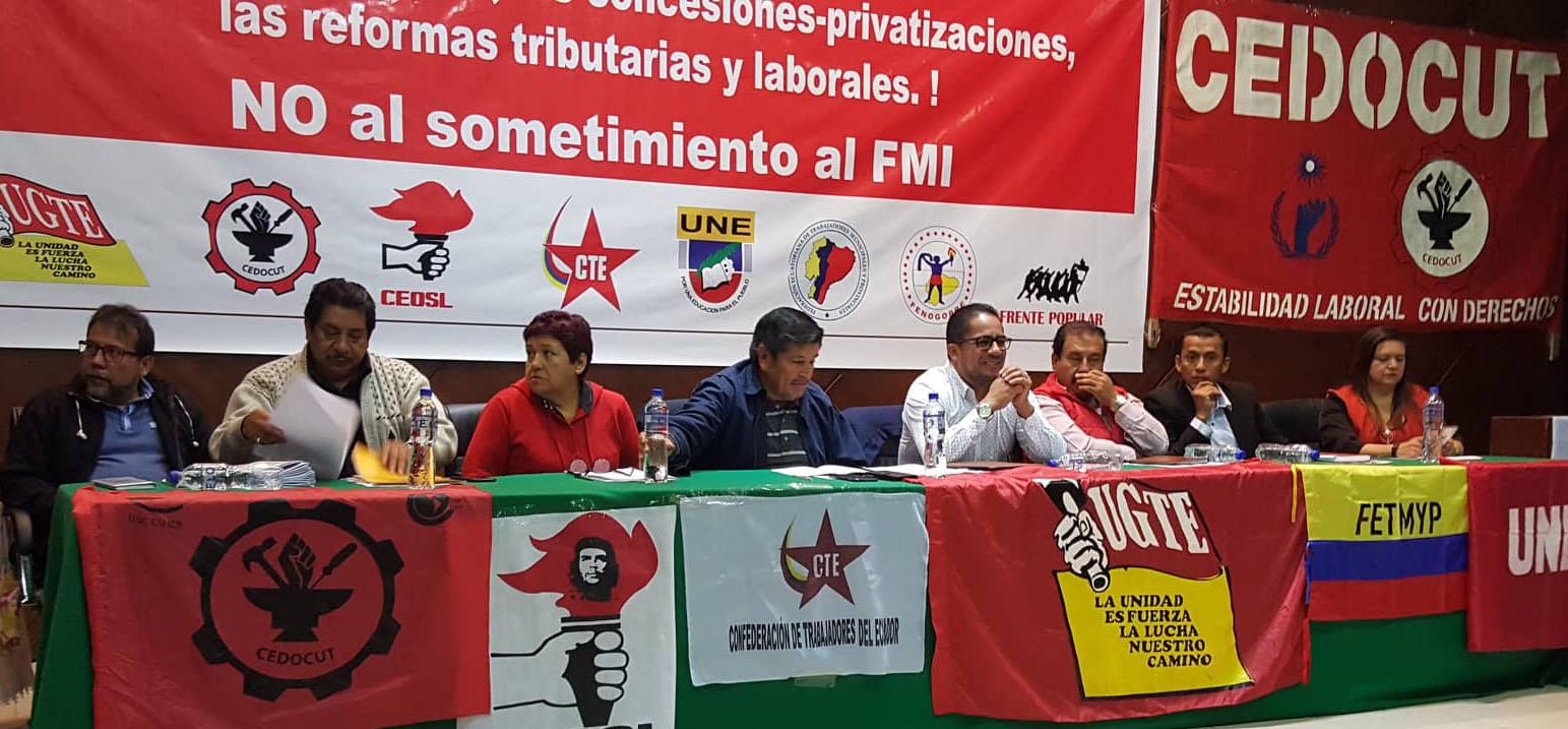 Convención del FUT convoca a una huelga nacional